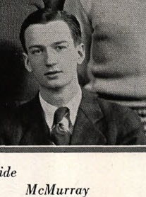 Herbert McMurray, Newton (Iowa) High School Yearbook, 1929.