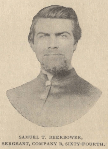 "Samuel T. Beerbower, from ""The Story of Sherman's Brigade"" page 637."