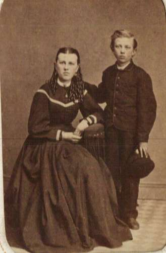 "Mary ""Emma"" Beerbower and her brother John Eleazer Beerbower"