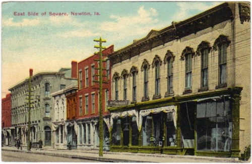 """The Square,"" Newton, Iowa, 1915. Postcard."