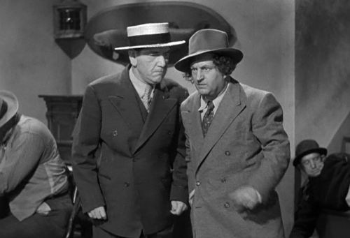 """Crime on Their Hands,"" 1948 Columbia Pictures Corporation short with Moe, Larry, and Shemp of the ""3 Stooges."""