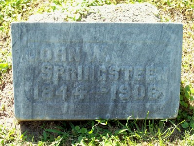 John William SPRINGSTEEN Headstone in Crown HIll Cemetery, Indianapolis, IN. Used with kind permission of the Find A Grave photographer.