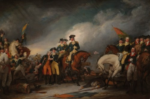 """The Capture of the Hessians at Trenton"" by John Turnbull, via Wikipedia, public domain."