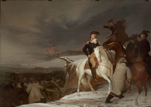 """Passage of the Delaware"" by Thomas Sully, 1819. In the MFA-Boston, public domain via Wikipedia."