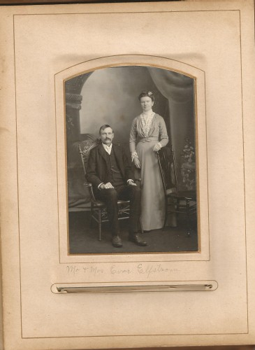 Mr. and Mrs. Evar Elfstrom from the Lloyd Roberts Family Photo Collection.