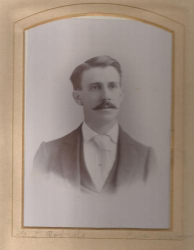 George Lucas Roberts , from the Lloyd Roberts Family Photo Album.