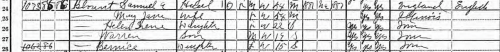 Samuel H. Blount family 1920 US Federal Census entry, Polk County, Iowa, page 169B.