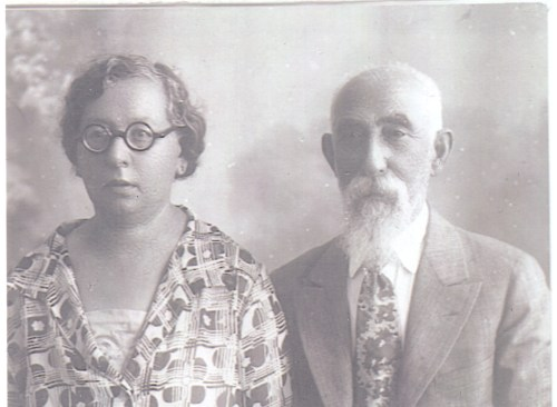 "John ""Zelig"" Broida and his second wife, Fannie (Rubenstein?) Broida, 5 July 1929."