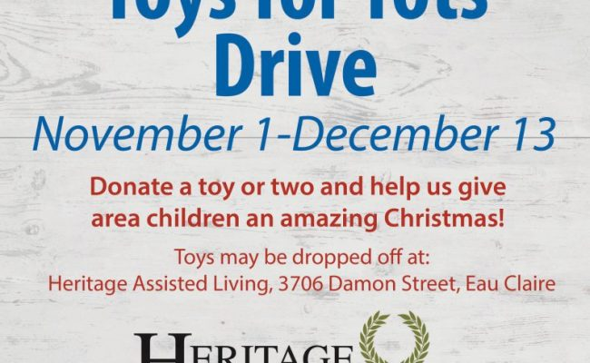 Toys For Tots Drive Heritage Oakwood Hills