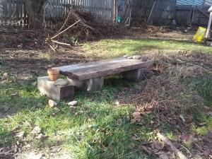 woodplank bench