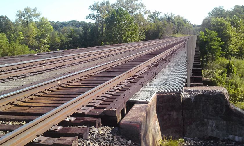 CSX Railway Tracks Crossing Bridge Over West Canada Creek Herkimer