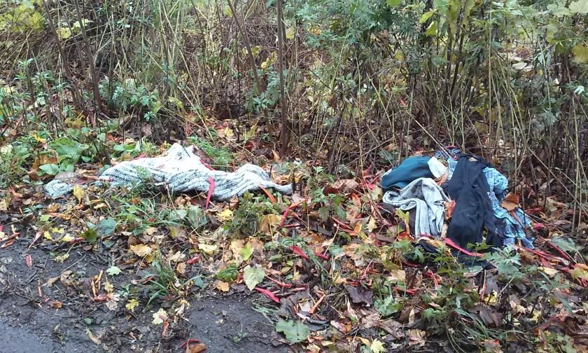 Herkimer - Discarded child's clothing near historic Herkimer Meth Encampment