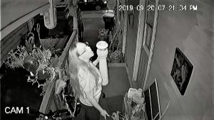 Amanda West menacing old folks