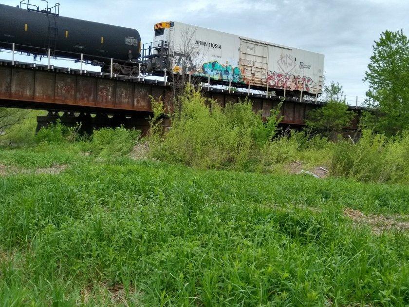 Train passes over the Herkimer Meth bridge at West Canada Creek 5.20