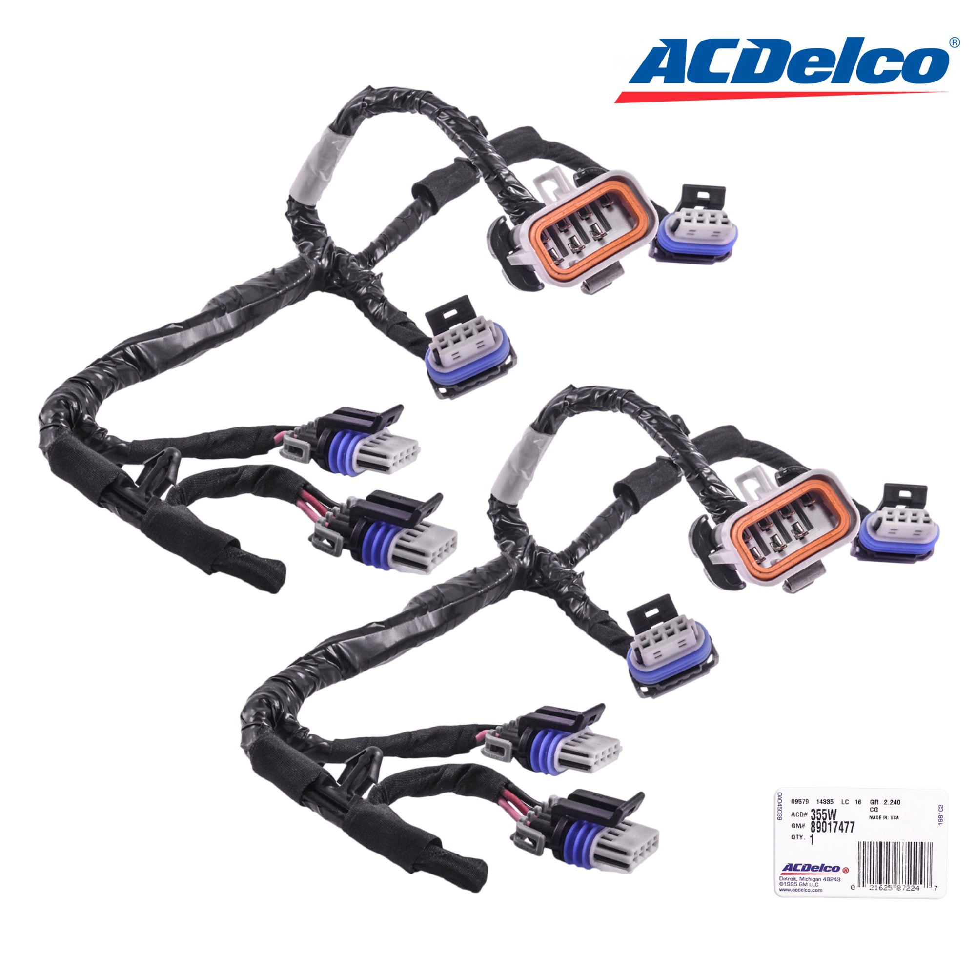 hight resolution of details about set of 2 acdelco ignition coil lead 355w 89017477 wiring harness for d585