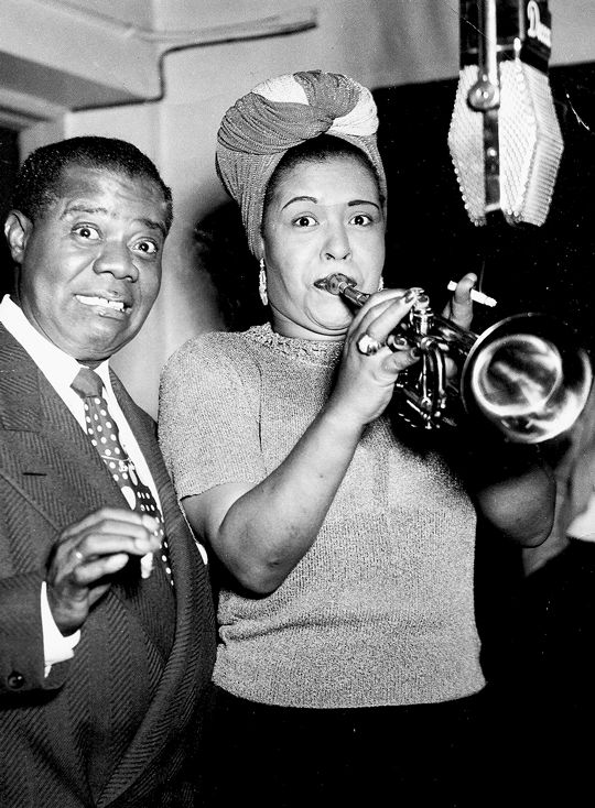 Having fun with Louis Armstrong