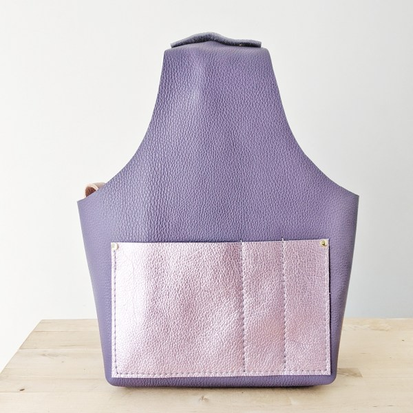 Beatrice Project Bag Front View Empty Violet