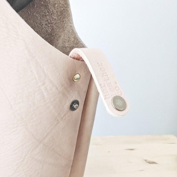 Beatrice Project Bag Snap Loop Burlap