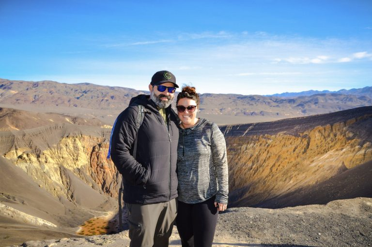 Ubehebe Crater Overlook in Death Valley National Park
