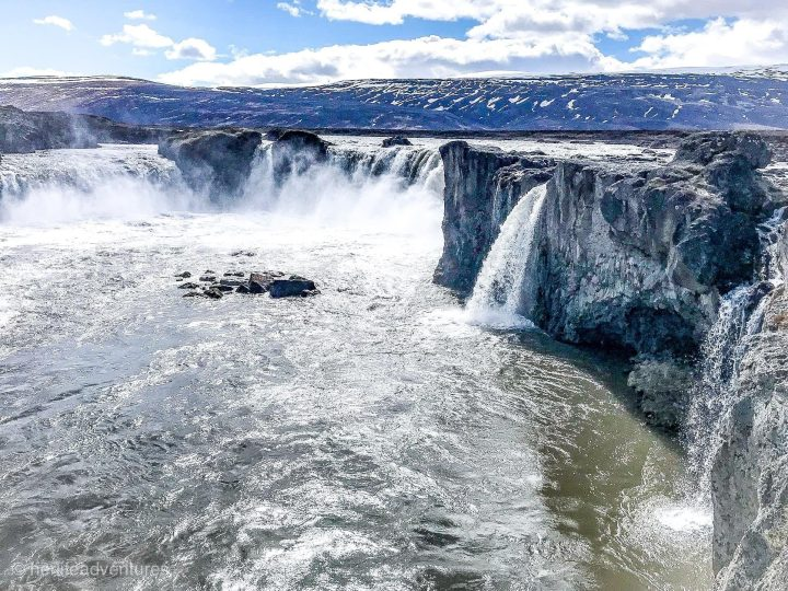 Goðafoss is one of the most visited waterfalls of Iceland's north.