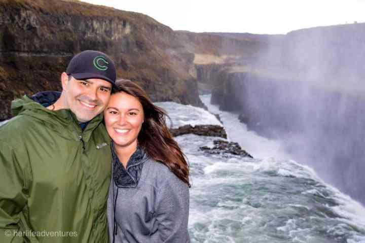 Iceland Gulfoss waterfall along the Golden Circle