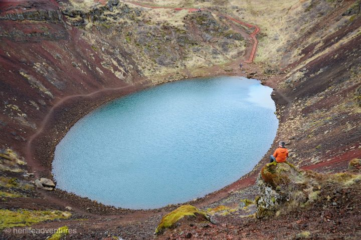 Lake Kerid is a must see while visiting Iceland's Golden Circle