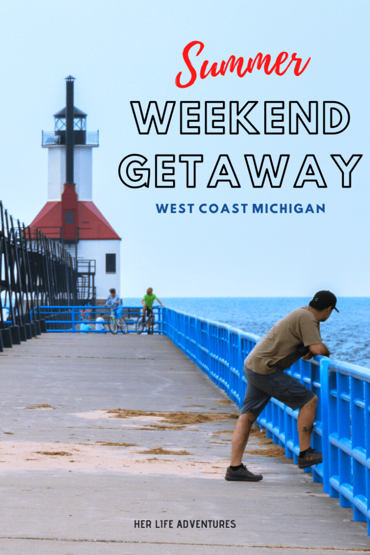 THE PERFECT WEEKEND GETAWAY ALONG MICHIGAN'S WEST COAST | Explore crystal clear fresh water beaches, historic lighthouses, sand dunes, & other things to do in Michigan along the West Coast. #michigan #traveldestinations #wheretogo #whattodo #lakemichigan #michiganbeaches #roadtrip #michigantravel