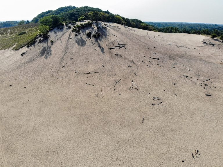 Sand dunes at Warren Dunes State Park in Michigan