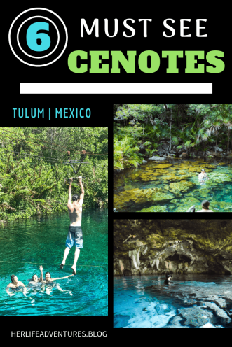 Mexico 6 MUST SEE gorgeous cenotes | herlifeadventures.blog | #mexico #mexicotravel #mexicopacking #wheretostay #hiddengem #mexicovacation #travelhacks #travelguide #adventuretravel #traveltips #northamerica #airbnb #traveldestinations #travelexperience #bestbeach #cenote #beautifulplaces #adventure #explore