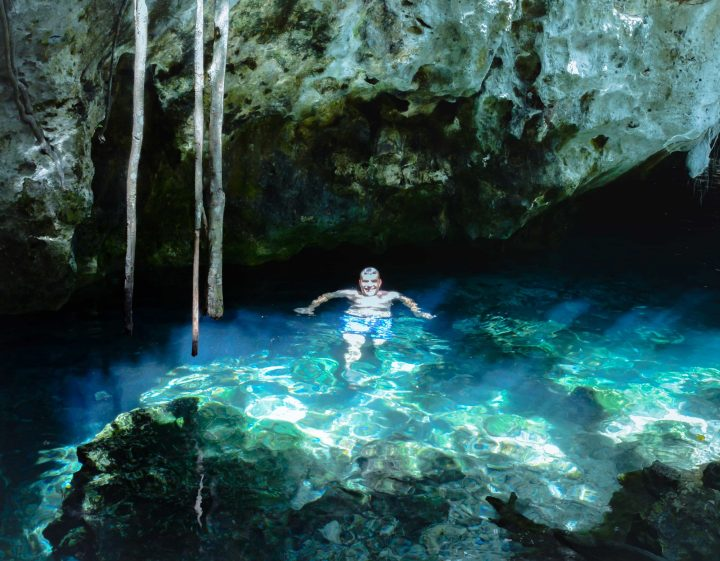 Discover Secret Cenotes Go Kayaking in Mexico's Cenotes in the Adventurers Guide to 1 Week in Tulum-  Discover where to eat, where to stay, and adventures such as Scuba diving, snorkeling, kayaking and more! Quintana Roo Mexico #mexico #travel #mexicopacking #wheretostay #hiddengem #vacation #travelguide #adventure #traveltips #northamerica #traveldestinations  #bestbeach #cenote #adventure
