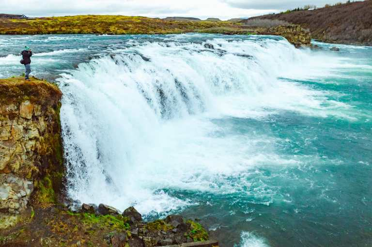 Faxi waterfall, and more must see waterfalls on your Iceland road trip around the ring road.  Hidden gems, cascading waterfalls and some of the most beautiful landscape I've ever seen. | herlifeadventures.blog |  #icelandtravel #hiddengem #icelandvacation #travelhacks #travelguide #adventuretravel #traveltips #europe #traveldestinations #travelexperience #waterfalls #iceland #beautifulplaces #adventure #explore