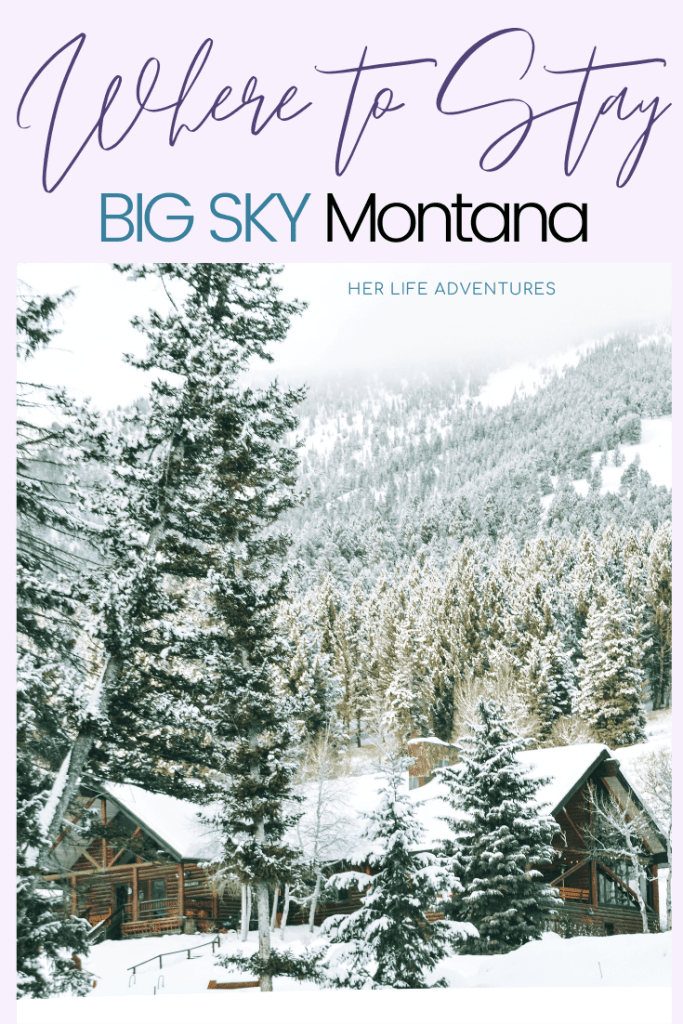 BIG SKY MONTANA WINTER ADVENTURE GUIDE | Hike to frozen waterfalls, snow shoe up a mountain, or take a sleigh ride. Big Sky Montana has something for everyone in this winter adventure guide! #bigsky #montana #whattodo #snowshoe #hiking #trails #winter #adventure