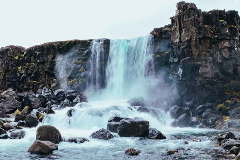 Oxararfoss and more must see waterfalls on your Iceland road trip around the ring road.  Hidden gems, cascading waterfalls and some of the most beautiful landscape I've ever seen. | herlifeadventures.blog |  #icelandtravel #hiddengem #icelandvacation #travelhacks #travelguide #adventuretravel #traveltips #europe #traveldestinations #travelexperience #waterfalls #iceland #beautifulplaces #adventure #explore