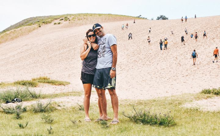 The Dune Climb in Sleeping Bear Dunes National Lakeshore is a hike no one should miss. | herlifeadventures.blog | #camping #usdestinations #travelhacks #travelguide #adventuretravel #roadtrip #nationalpark #nationalparkroadtrip #michigantravel #greatlakes #ustravel #summer #bucketlist