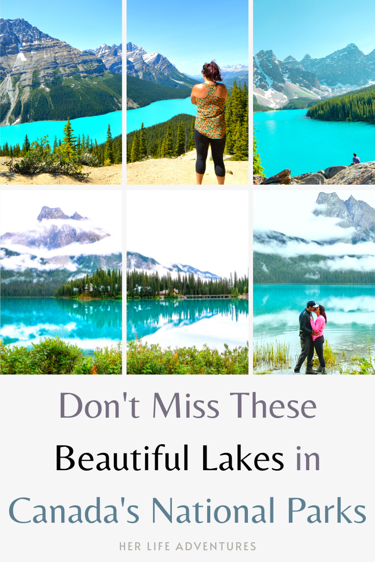 Incredible photos of the most beautiful lakes in Canada's National Parks Adventure | Jasper | Banff | Yoho  #traveldestinations #travelideas #northamericatravel #traveltips  #travelhacks #travelguide #adventuretravel #roadtrip #nationalpark #nationalparkroadtrip #alberta #canada #britishcolombia