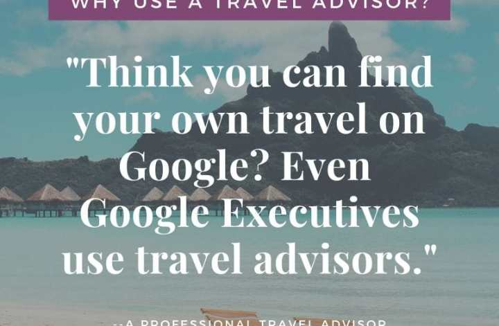 the benefit of Travel Agents goes way beyond just saving you money. They provide a service to make your vacation the best yet!