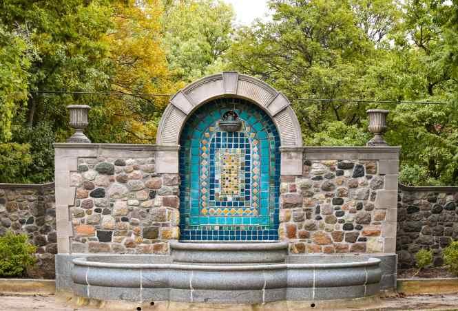 Rainbow Fountain - Cranbrook Botanical Gardens in Birmingham Michigan #michigantravel #thingstodo #traveldestinations #botanicalgardens