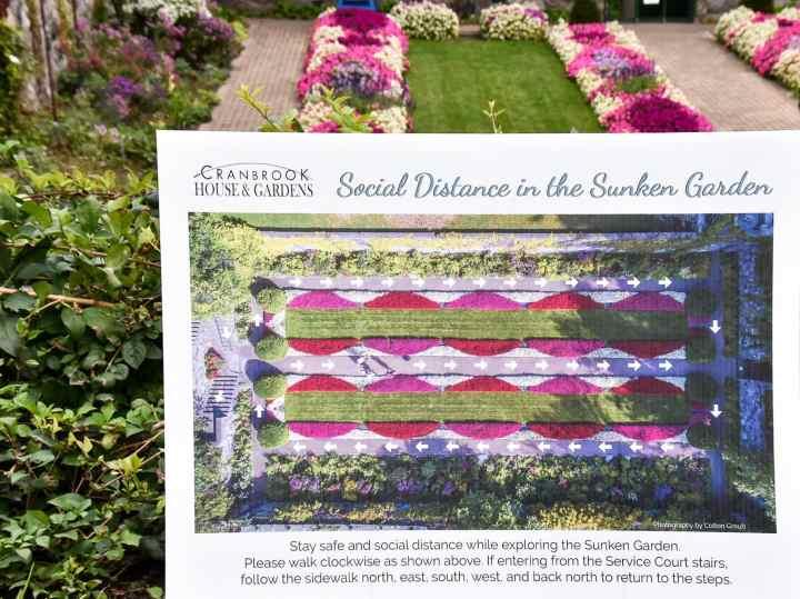 Social Distancing in the Sunken Gardens of Cranbrook