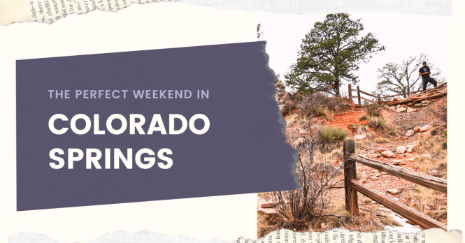 Colorado Springs is located just over an hour south of Denver. This beautiful area offers sunny skies and crisp mountain air year round. The activities surrounding the area makes for a perfect weekend in Colorado Springs, filled with outdoor adventures.