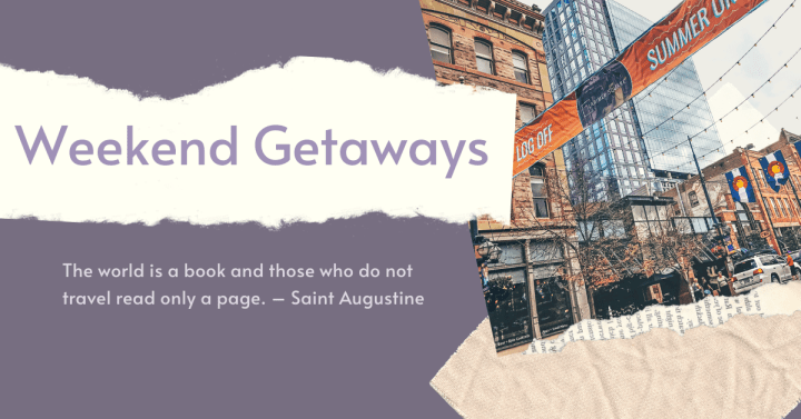 Plan your next vacation now! Before it's too late! Use the search bar below to discover new destinations. for your travel inspiration! These weekend getaway guides will have you exploring in no time!
