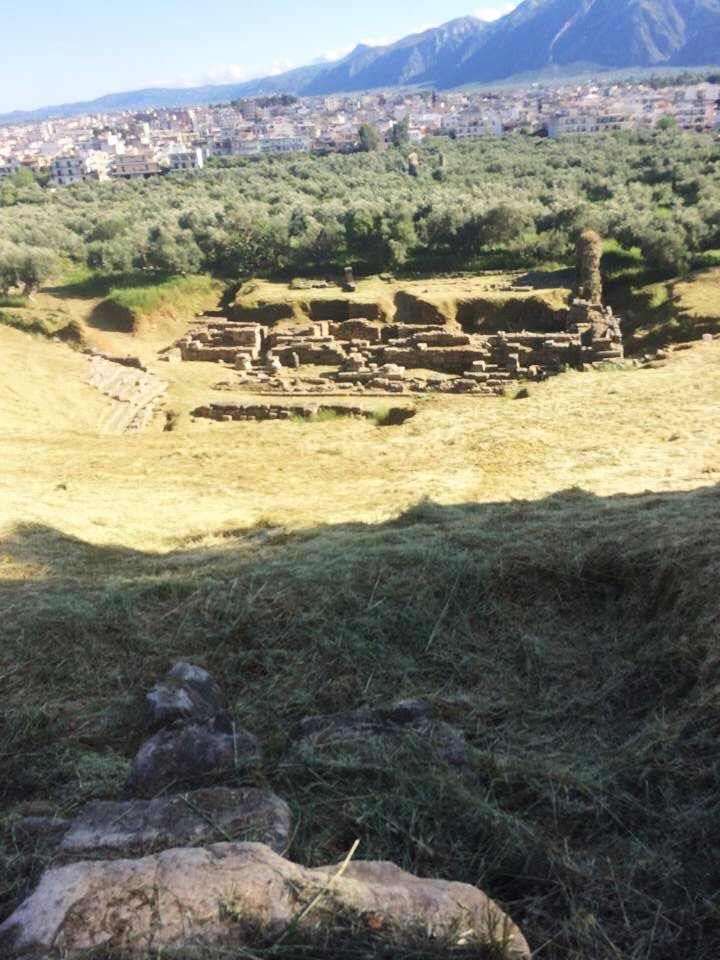 Part of what remains of a theatre in Sparta