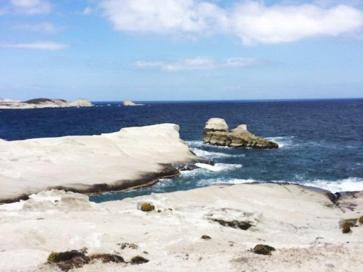 The beautiful coast of Milos