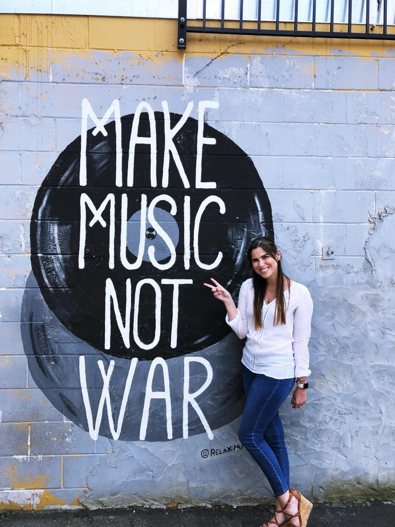 Make Music, Not War Mural | The Instagrammers Guide to Nashville Murals