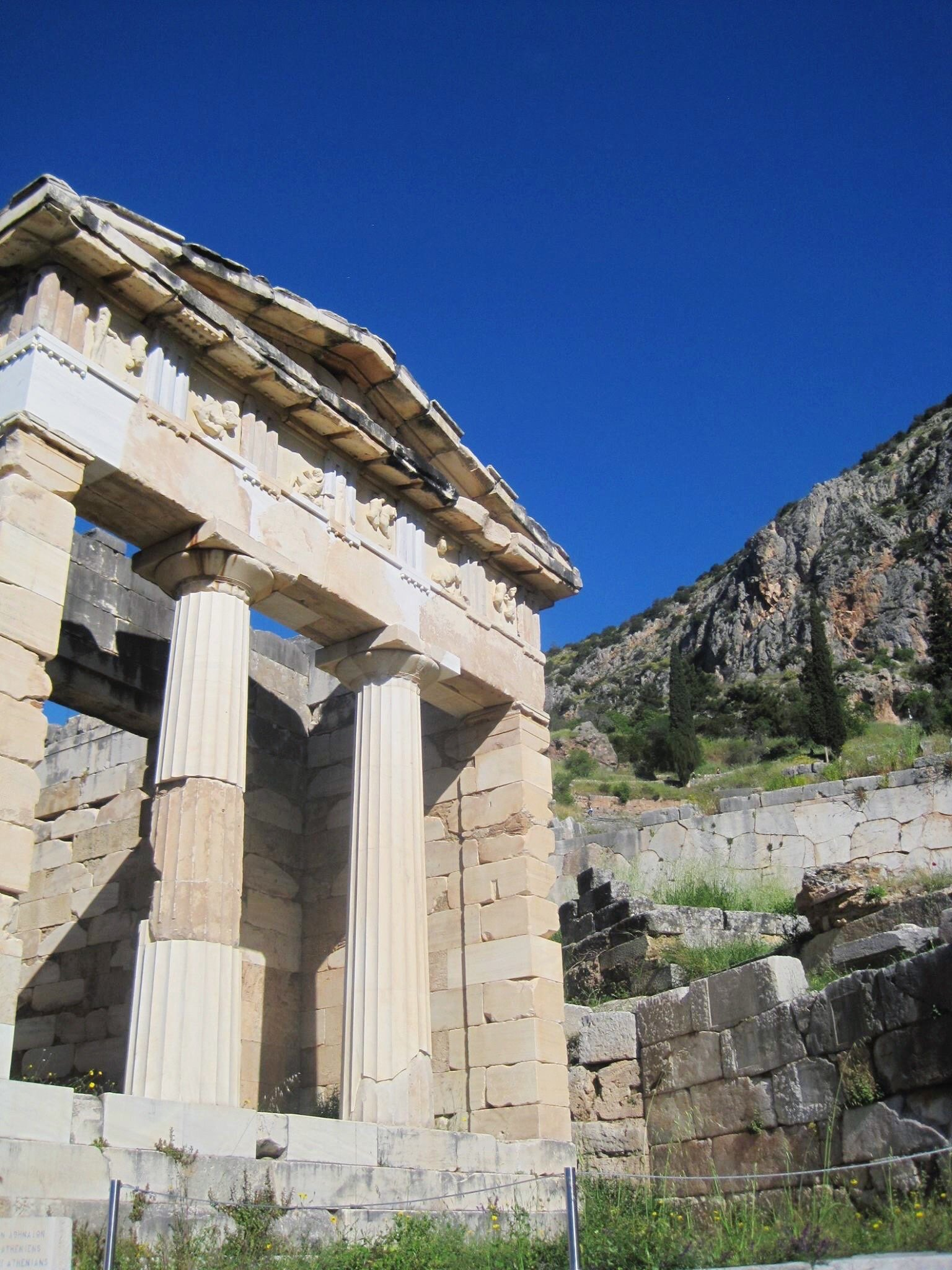 The Athenian Treasury | Delphi: The Bellybutton of the Ancient World | www.herlifeinruins.com