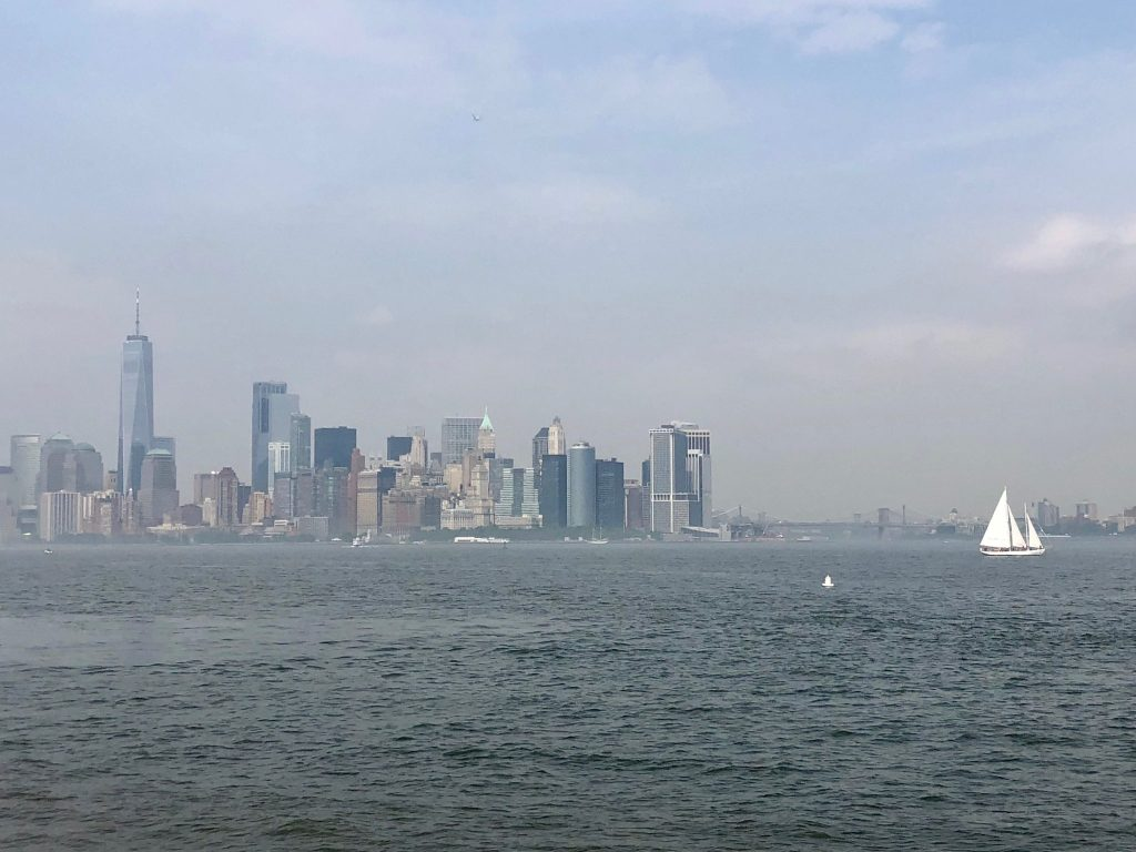 View of Manhattan from the Statue of Liberty