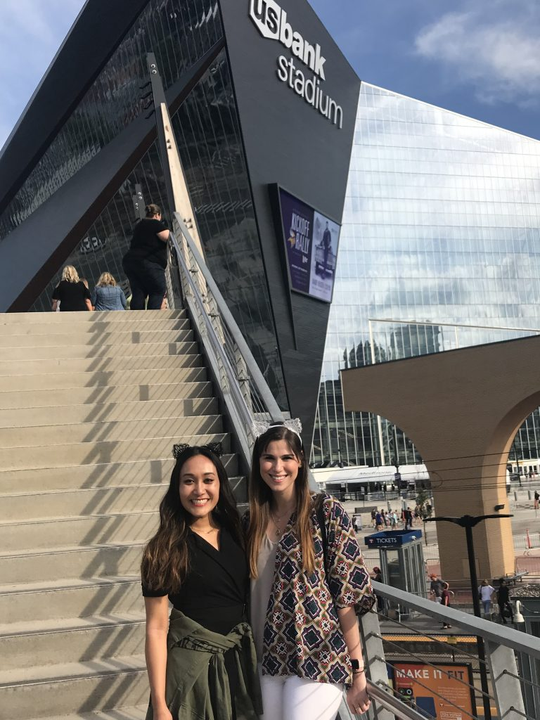 My best friend and I outside Taylor Swift's Reputation Tour in Minneapolis | 2018: Year in Review