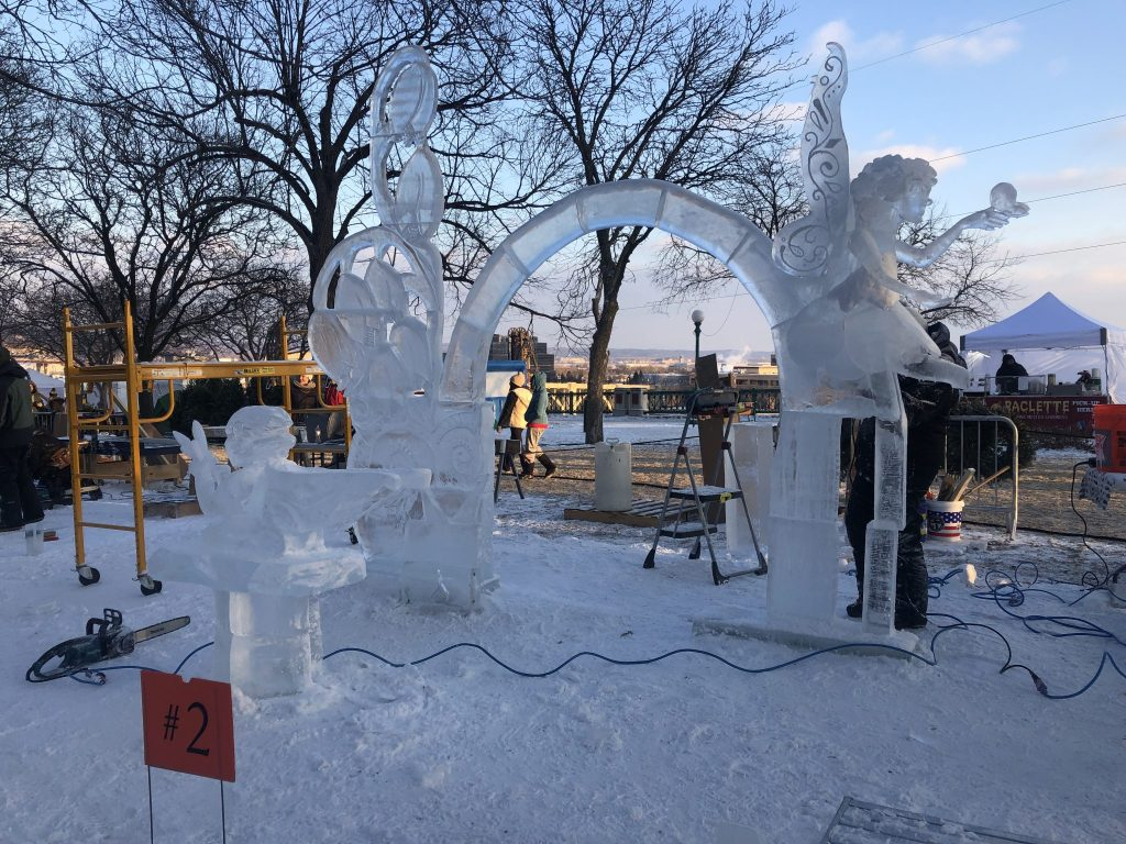 A Pixie inspired arch ice sculpture at the Saint Paul Winter Carnival | Her Life in Ruins