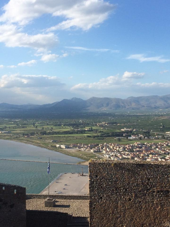 View of Nafplio from the top of Palamidi Fortress