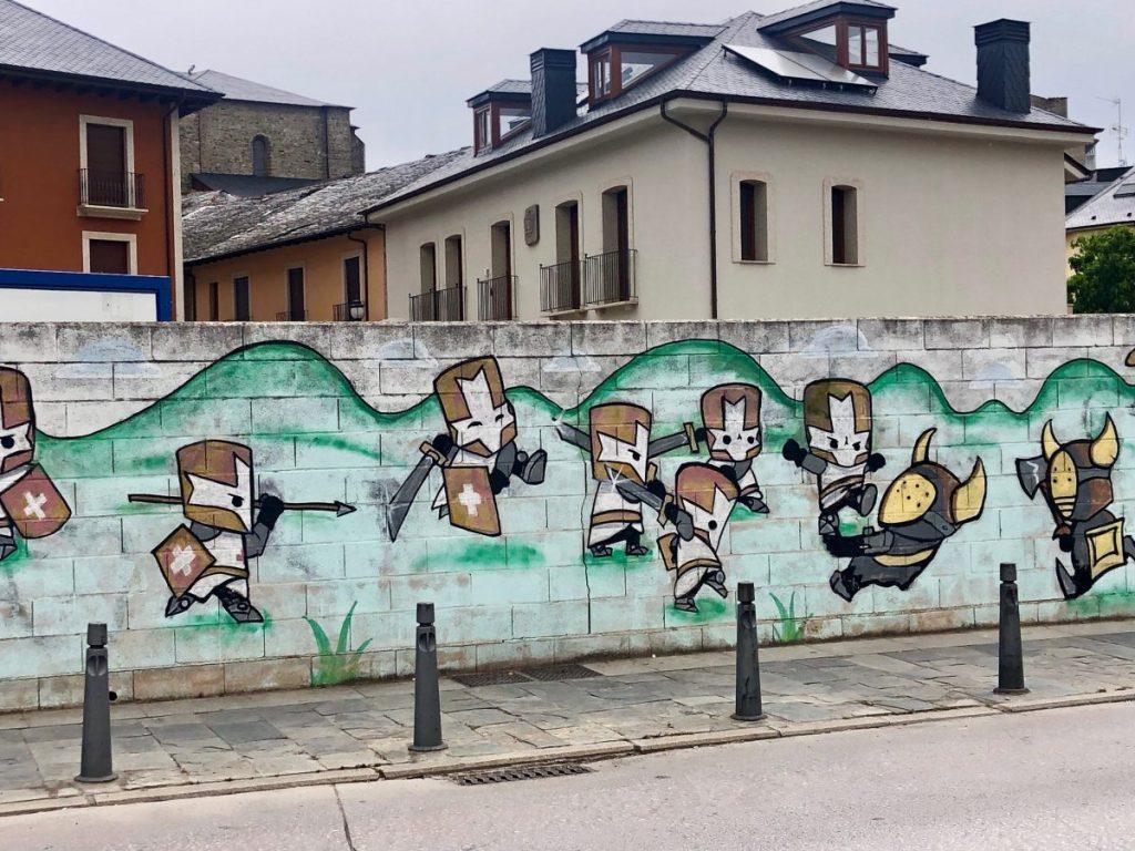 Knights Templar Graffiti near Castillo de los Templarios in Ponferrada, Spain | Her Life in Ruins
