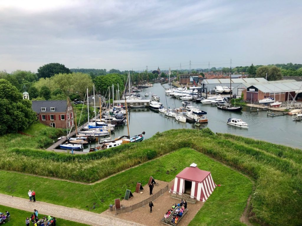 View of modern Muiden from a tower at Muiderslot | Her Life in Ruins
